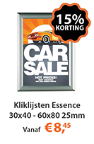 Kliklijsten Essence 30x40 - 60x80 25mm